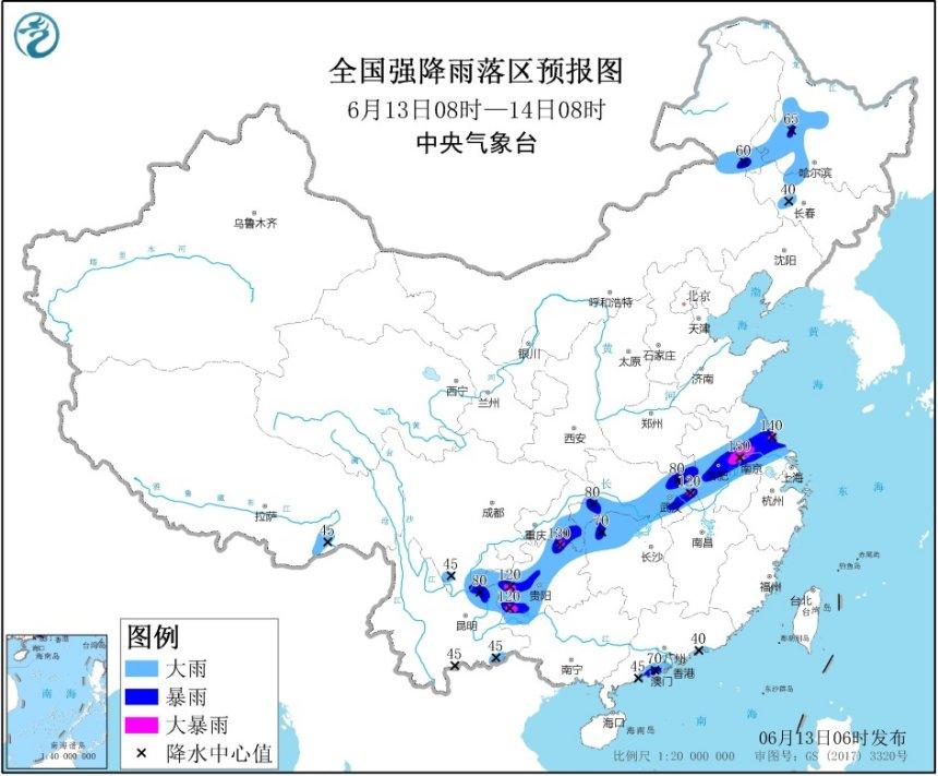 摩天平台暴雨黄色预警江苏湖摩天平台南等7图片