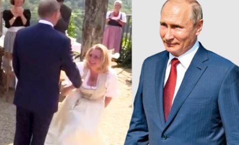 奥地利女外长婚礼向普京行屈膝礼