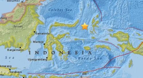 印尼北马鲁古省附近海域5.4级地震 震源深29公里