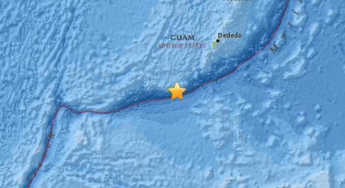 关岛南部海域发生5.1级地震 震源深度27.4公里