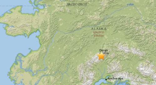 美国阿拉斯加南部5.0级地震 震源深度122.4公里