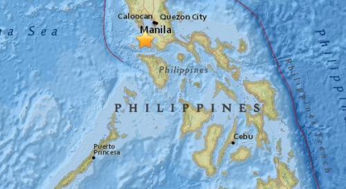 菲律宾北部发生5.4级地震 震源深度137.1公里