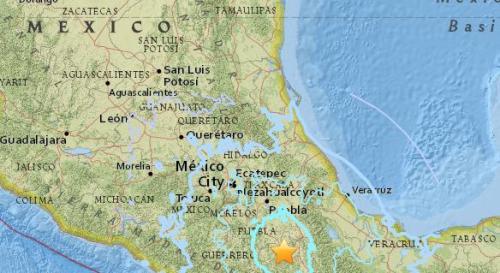 墨西哥南部地区发生5.7级地震 震源深度55.4公里