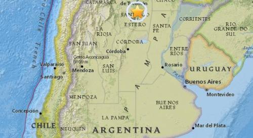 阿根廷北部地区发生5.6级地震,震源深度587.8公里