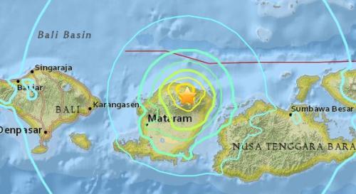 北京時間7月29日6時47分左右,印尼發生6.4級地震,震源深度7.5公裡。