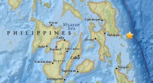 菲律宾东部海域发生5.4级地震 震源深度35公里