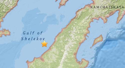 俄堪察加西部附近海域5.4级地震 震源深度10公里