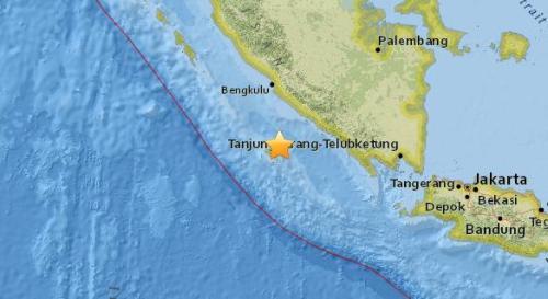 印尼西南部附近海域5.1级地震 震源深度46.7公里