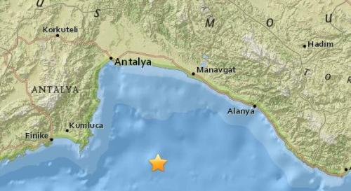 土耳其南部附近海域5.2级地震 震源深度58.8公里