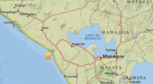 尼加拉瓜西部海域5.3级地震 震源深度110.6公里