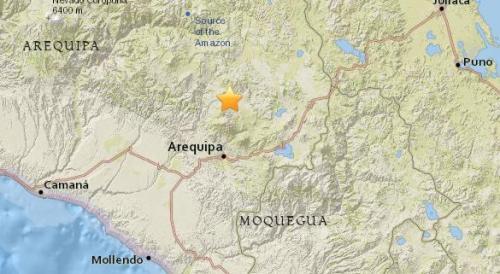 秘鲁南部地区发生5.4级地震 震源深度121公里