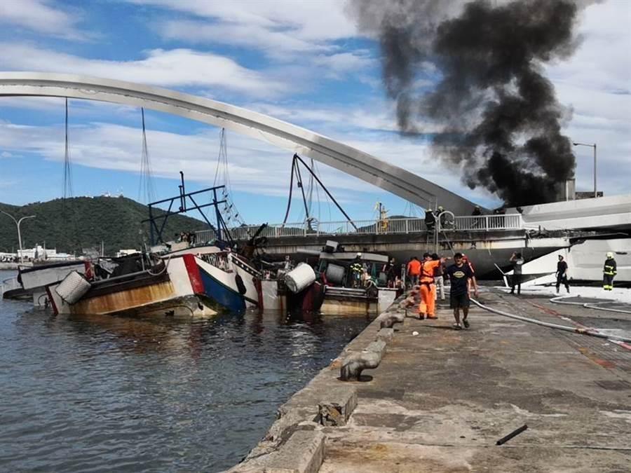 恐怖!直击台湾宜兰大桥塌瞬间 仿佛地震来袭