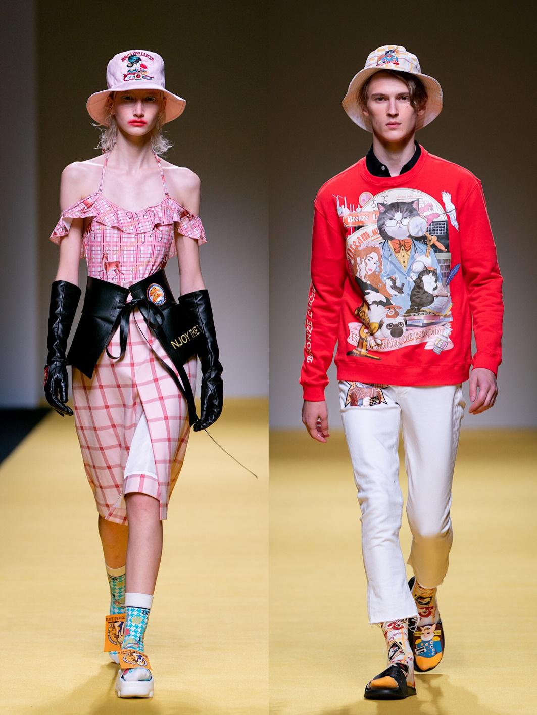"""""""可持续""""才是新时尚!上海时装周让饿了么外卖回收品变身潮服"""