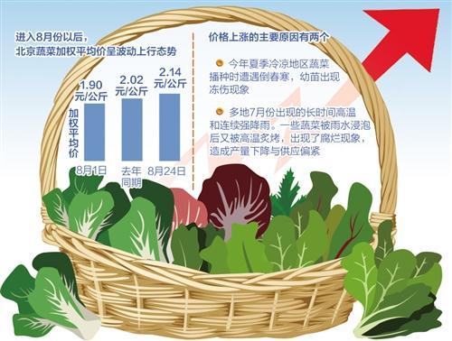 媒体:山东寿光洪灾对北京蔬菜短期供应影响有限