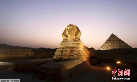 資料圖:埃及吉薩獅身人面像。