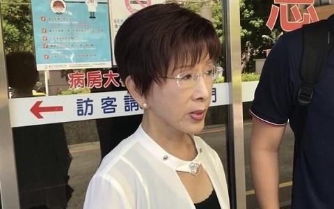 前国民党主席洪秀柱。(图片来自台媒)