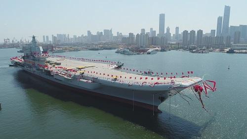 资料图:中国第二艘航空母舰 新华社记者 李刚 摄