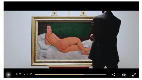 苏富比拍卖行网站中相关介绍视频截图。