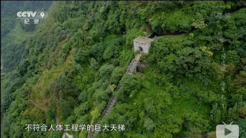 视频截图:海龙屯的天梯