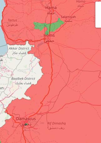 政府军依然在进攻北霍姆斯和南大马士革的反对派控制区域,战况激烈但是进展顺利,预计到今年年底,政府军能够解放除了土耳其控制底盘以外所有人口重镇——如果美国人不继续插手的话