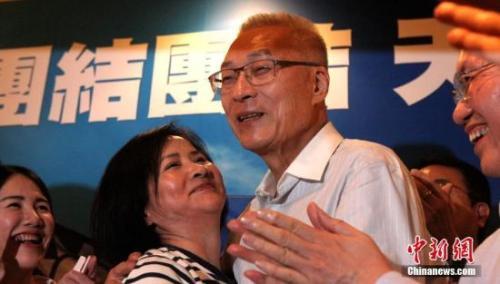 资料图:国民党主席吴敦义 中新社记者 刘舒凌 摄