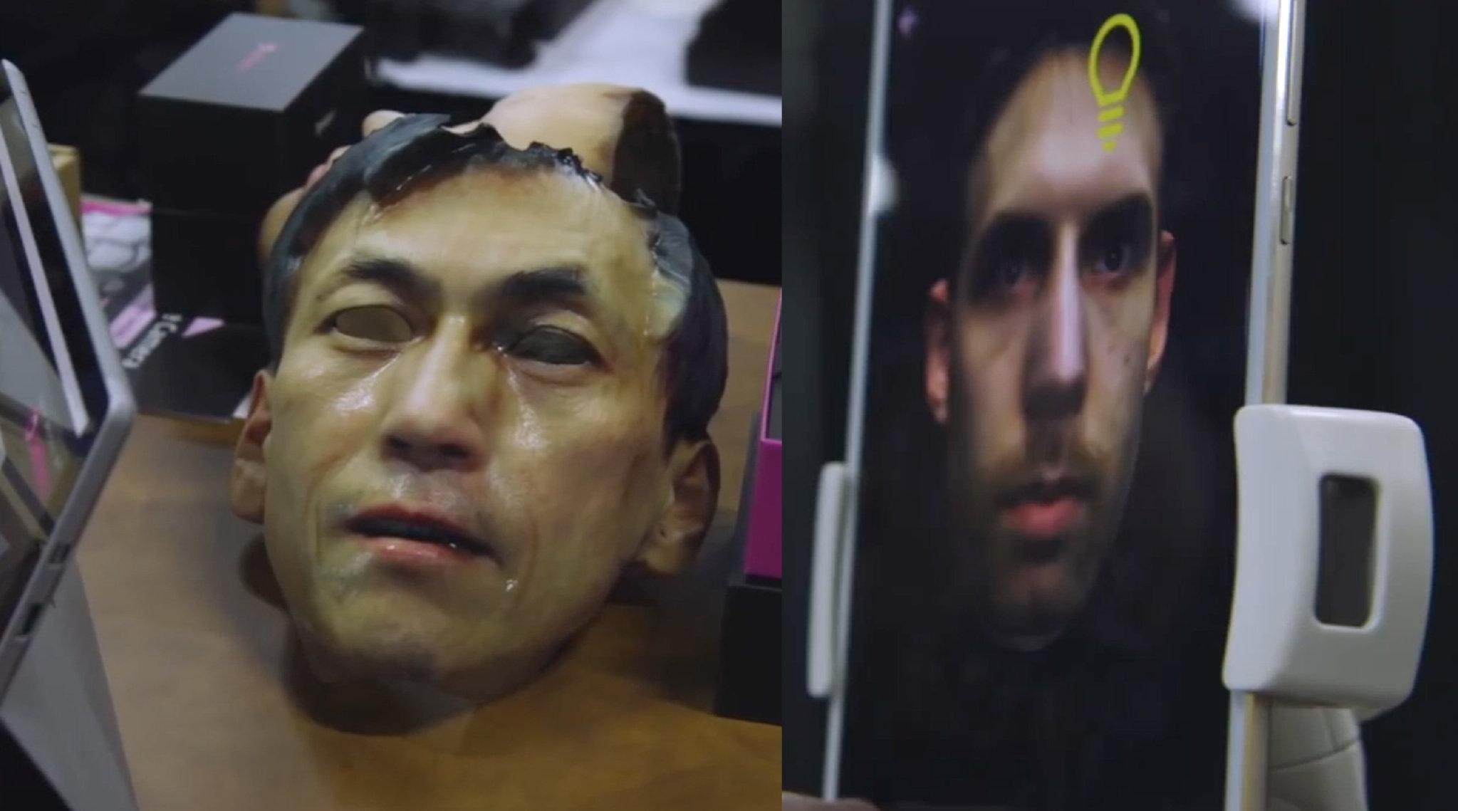 逼真的人脸3D自拍手机