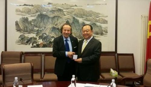 泰伦齐访中国西部开发促进会 推进中小企业交流图片