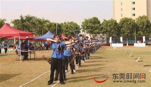 省青少年射箭冠军赛,东莞市体校选手斩获6金6银6铜
