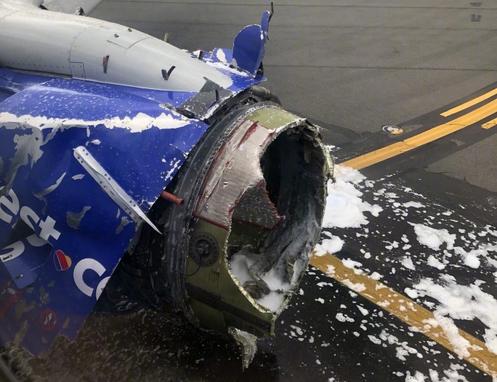 美国客机引擎爆炸迫降费城 机上一名乘客死亡