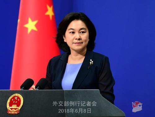 外交部发言人华春莹主持例行记者会。图片来源:外交部网站