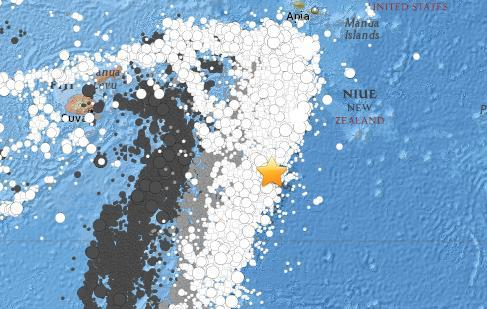 汤加群岛附近海域发生5.3级地震 震源深度10公里