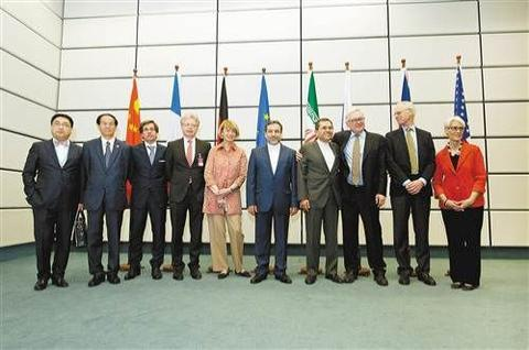 2015年7月14日,伊朗同美国、俄罗斯、中国、英国、法国和德国达成伊朗核问题最终协议。图片来源:新华社