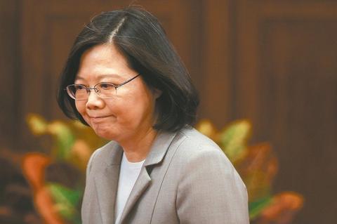 台湾地区领导人蔡英文。(图片来源:台湾《联合报》)
