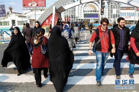 德黑兰街头。图片来源:新华网