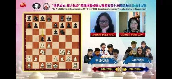 【国家青少年国象网络对抗赛】中国队获得亚军