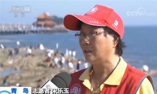 上合组织青岛峰会即将举行 青岛迎峰会 志愿倡文明