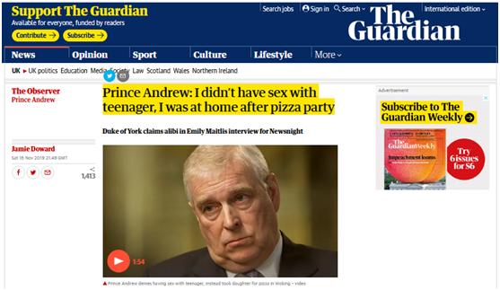 """安德鲁王子:没和爱泼斯坦""""招募""""的女性有性关系澳门金莎娱乐官网"""