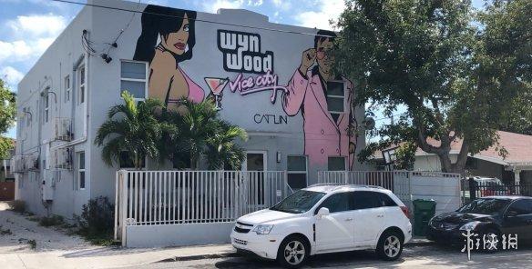 美国迈阿密街头惊现《侠盗猎车:罪恶都市》涂鸦!