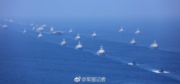 南海大阅兵。图片来源:中国军网