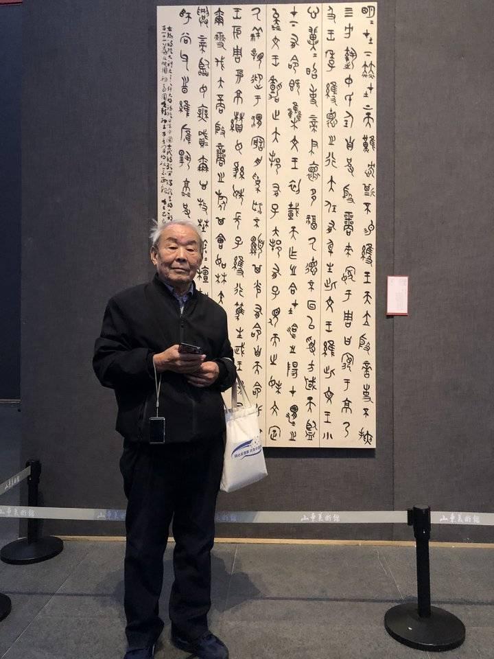 这个展览太棒了!85岁篆书爱好者观展,希望篆书能传承下去