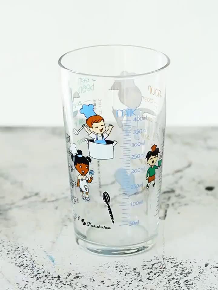 PASABAHCE 耐热无铅玻璃杯400ml+赠盖子+不锈钢/硅胶吸管