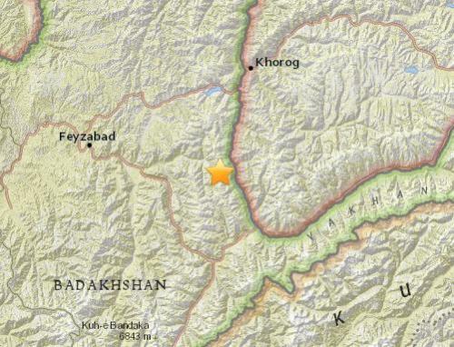阿富汗、塔吉克斯坦边境地区发生6.2级地震