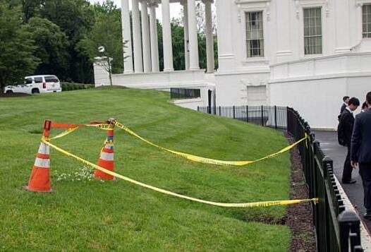 白宫草坪出现天坑