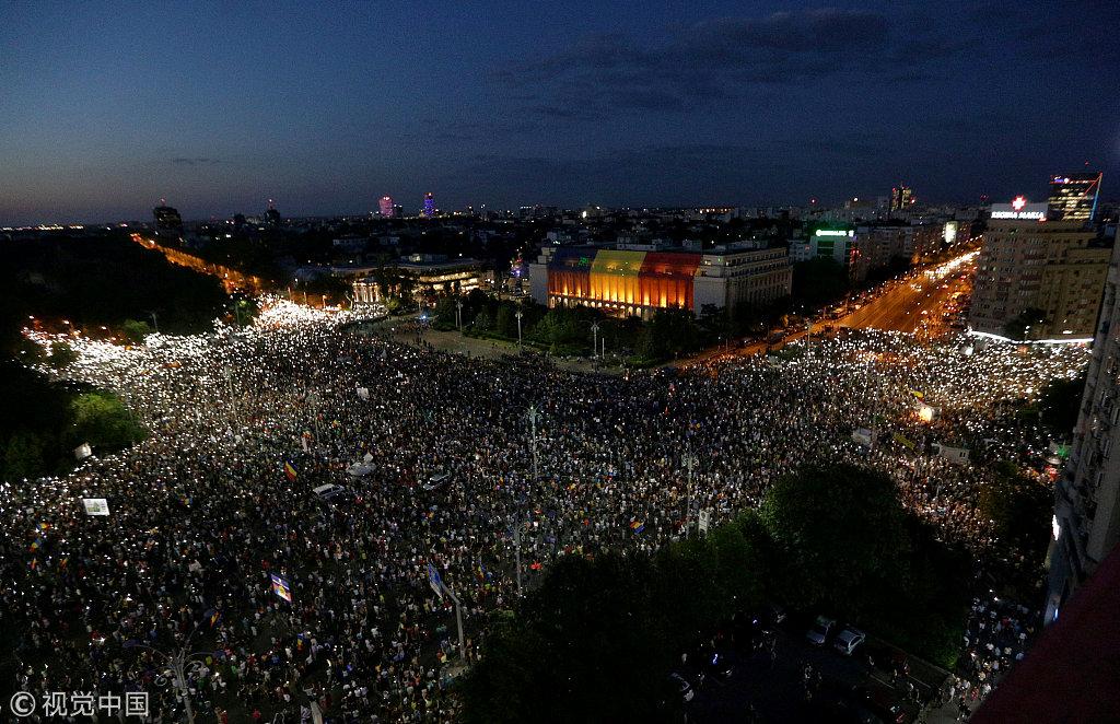罗马尼亚时间_【观察者网综合报道】 当地时间8月10日,罗马尼亚各大城市爆发大规模