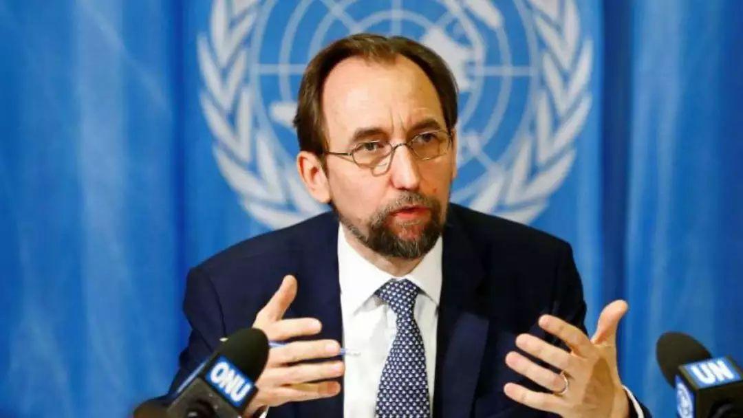 ▲现任联合国人权事务高级专员扎伊德·侯赛因