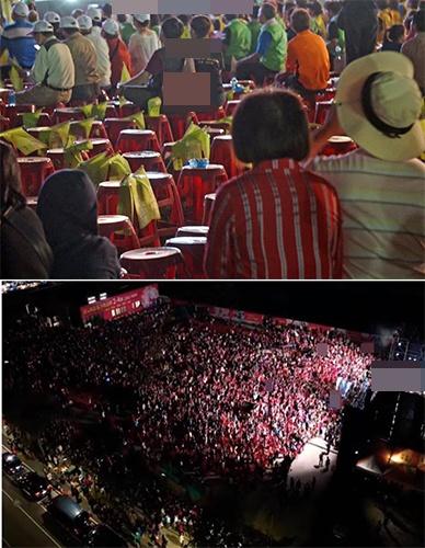 同日造势情景大不同:韩国瑜场人爆满 蔡英文支持者都走光