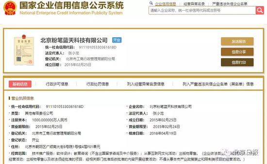 截图来自国家企业信用信息公示系统网站
