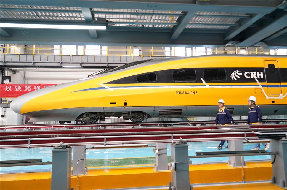 京张高铁北京北动车所正式投入使用