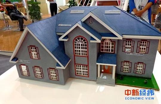 ▲住宅一体化建筑模型 资料图 中新经纬 摄