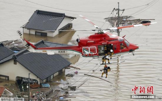 日本暴雨肆虐灾情扩大 已致89人死亡逾千人滞留